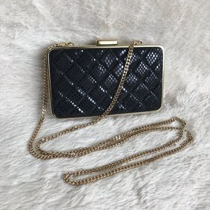 NWT Michael Kors Quilted Patent Snake Box Clutch